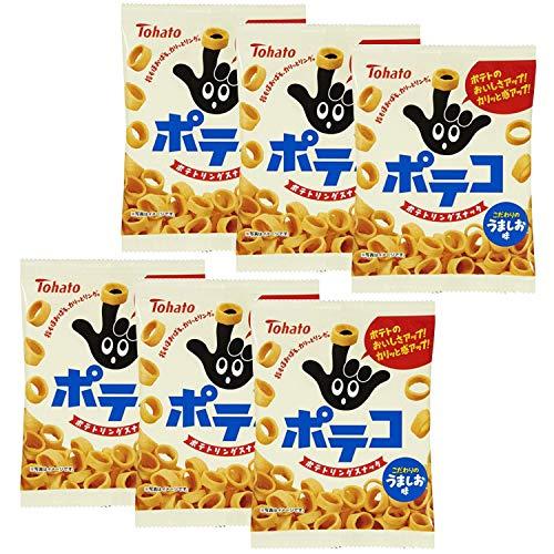 Poteko Salty Potato Snack Ring 2.8oz 6pcs set Japanese Tohato Ninjapo