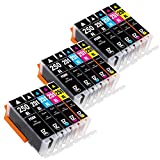 E-Z Ink (TM) Compatible Ink Cartridge Replacement for PGI-250XL PGI 250 XL CLI-251XL CLI 251 XL (3 Large Black, 3 Cyan, 3 Magenta, 3 Yellow, 3 Small Black) 15 Pack Works for PIXMA MX922 MG5522 MG5620