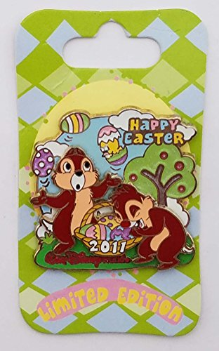 (WDW Trading Pin - Easter 2011 - Chip 'n Dale)