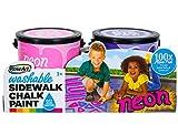 (US) RoseArt Washable Sidewalk Chalk Paint (2 Count), Neon Pink/Purple