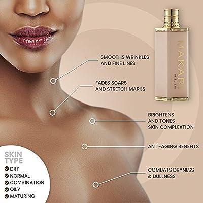 Makari Classic Premium+ Beauty Skin Whitening BODY Milk 4.75 fl.oz – Intense Lightening, Brightening & Toning Body Lotion – Daily Moisturizing Treatment for Dark Spots, Acne Scars & Hyperpigmentation