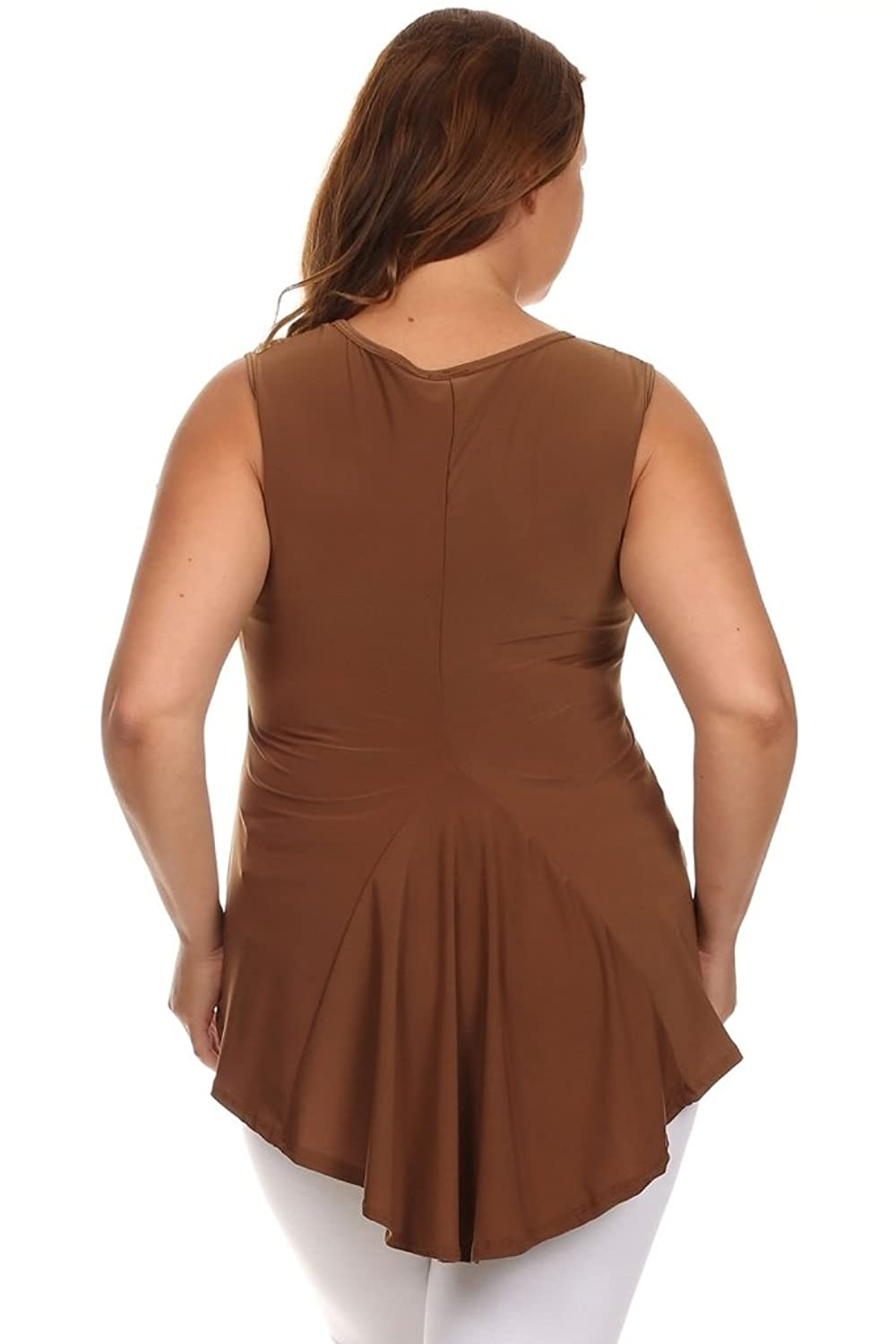 CANARI New Women's Plus Size Brown Candice Top
