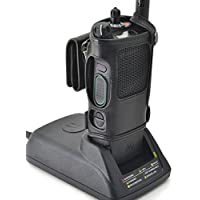 Turtleback Motorola APX 6000 Belt Carry Holder Case, Black Leather Duty Belt Holster with Heavy Duty Rotating Belt Clip