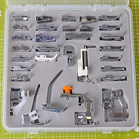 YICBOR - Juego de prensatelas profesional para máquina de coser doméstica, 32 piezas, para