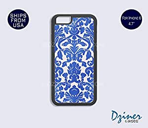iPhone 6 Case - 4.7 inch model - Blue Damask iPhone Cover