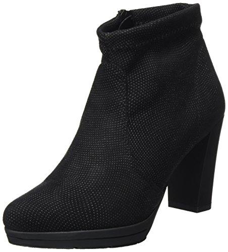 NR Rapisardi WoMen D1400 Boots Black (Black Caviar 01cv-e/M)