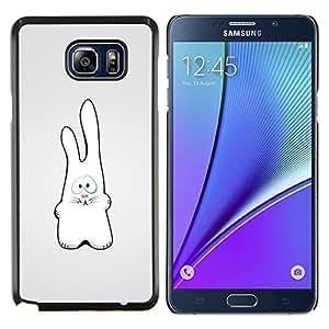 Caucho caso de Shell duro de la cubierta de accesorios de protección BY RAYDREAMMM - Samsung Galaxy Note 5 5th N9200 - Rabit divertido