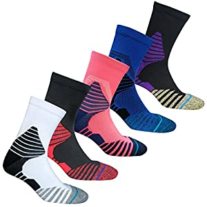 Boys Athletic Basketball Socks Youth Elite Sport Big Tall Boy's Crew Sock Assorted