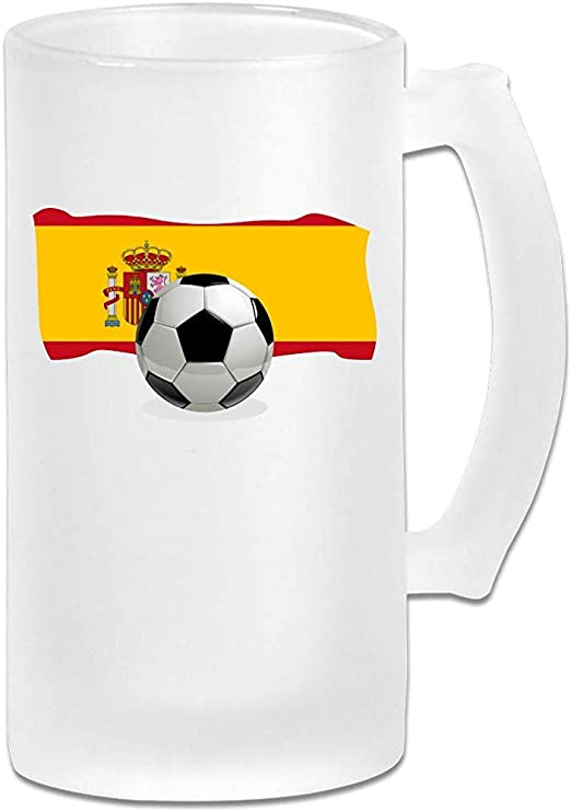 Balón de fútbol con la bandera de España Jarra de cerveza Stein de ...