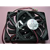 2 pcs Brushless DC Cooling Fan 5V 8010S 11 Blades 2 wire 80x80x10mm Sleeve-bearing Skywalking