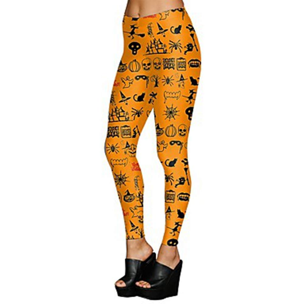 Yellow Large AILIUJUNBING Women's Sexy Yoga Pants Light Brown Sports Halloween Tights Leggings Running, Fitness, Workout Activewear Breathable, Soft, Sweat-Wicking High Elasticity Slim