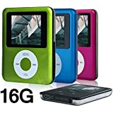 ACE DEAL MINI USB Port 16GB Memory Slim Classic Digital LCD MP3 Player / MP4 Player, MP3 Music Player, E-book , Photo viewing , Video Playing , Movie (Green Color)