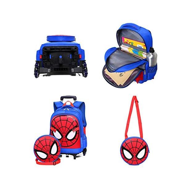 MODRYER I Bambini Spiderman Zaino Set, Studente Ruote Daypack Scuola Impermeabile Borse elementare Studenti Zaino… 3 spesavip