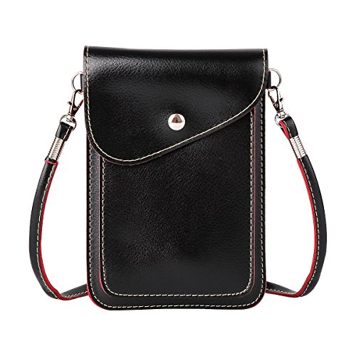 xhorizon SR Universal Multipurpose Elegant PU Leather Crossbody Single Shoulder Bag Cellphone Pouch/Purse with Shoulder Strap For iPhone X 8+ 8 7+ 7 6, Samsung S9+ S9 S8+ S8 S7 HUAWEI LG and other