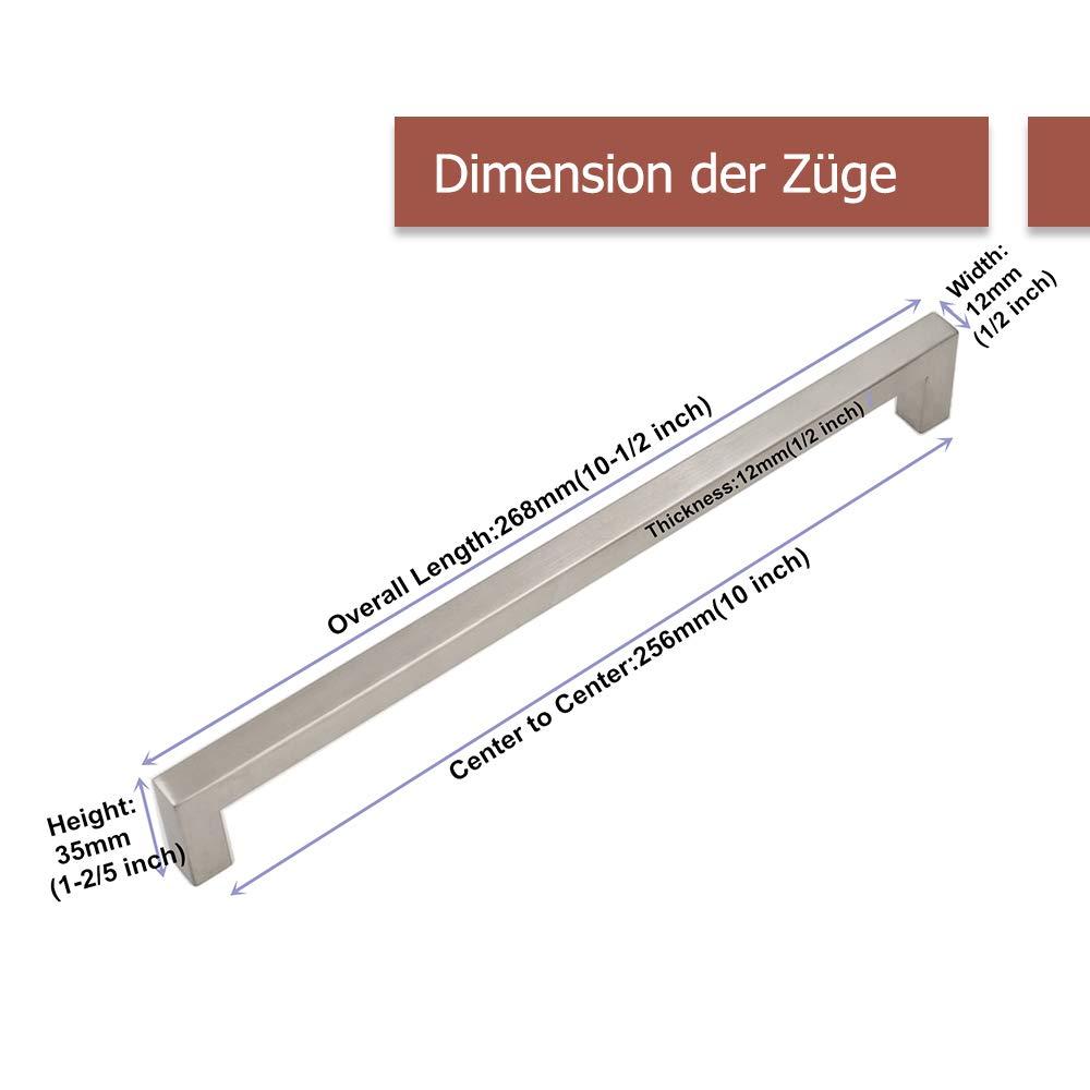 Tirador Goldenwarm/® de acero inoxidable cepillado cocina para armario ancho del tubo 12/mm x 12/mm caj/ón
