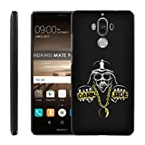 Huawei Mate 9 Back Cover [Case86] [Black] Snap-On Case [Screen Protector] - [Darkside] for Huawei Mate 9 [5.9' Screen]
