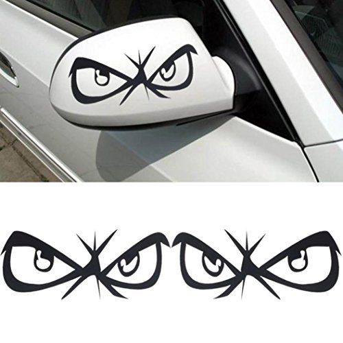 Stickers,Lisingtool 3D Decoration Sticker For Car Side Mirror Rearview (Black) (Car Stickers For Women compare prices)