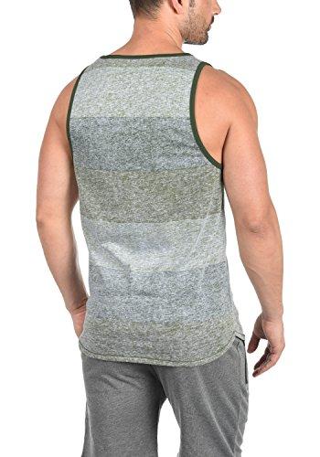 Encolure Rond Coton solid Sans Top 3590 shirt Débardeur Tank Bag Homme Manches Duffel Green Charan T 100 qTxv7Rqzw