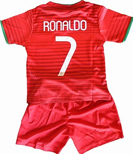 2014 Cristiano Ronaldo Home Portugal Football Soccer Kids Jersey & Short FREE PORTUGAL GIFT (12-13 YEARS)