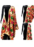 Fashion Tree Women's Chiffon Phulkari Dupatta ft5678, Multicolour, Free Size