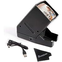 RAINBEAN USB Powered 35mm Negative Slide Film Viewer, Old Slides Scanner Portable LED Lighted Negative Viewing – 3X…