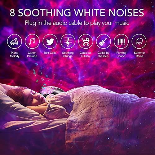 LED Sternenhimmel Projektor, Galaxy projector, Mini star Lampe, Kinder Nachtlicht Baby,Musik Bluetooth Sternlicht mit Fernbedienung Timer,Sternenprojektor Licht Farbwechsel für Erwachsene Schlafzimmer