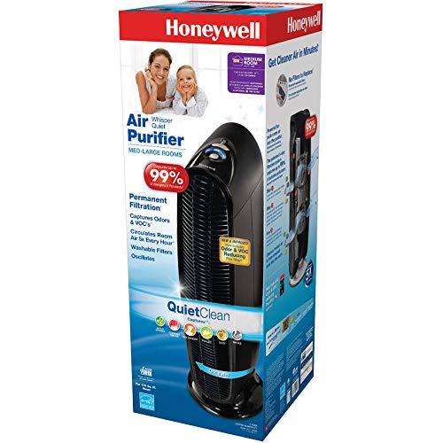 170 Sq ft Honeywell QuietClean Tower Air Purifier HFD140BWM