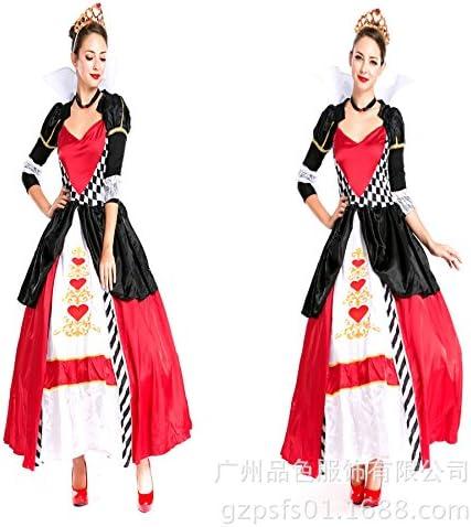 Disfraz de Reina Poker Reina de corazones traje cosplay: Amazon.es ...