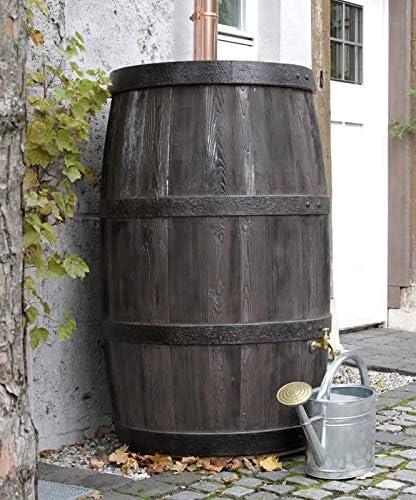 TECHNIK Burdeos 500L barril de agua con depósito – al aire libre jardín riego – lluvia: Amazon.es: Jardín