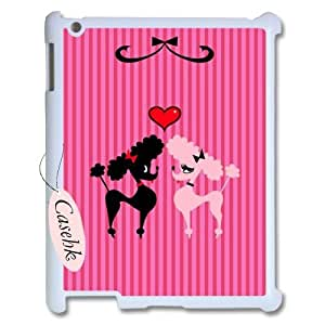 Casehk New Design Hard Back Case for iPad 2,3,4, French Poodle iPad 2,3,4 Custom Case, French Poodle DIY Phone Case
