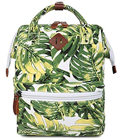 42c1eedc05dc FITMYFAVO Stylish Doctor Style Multipurpose School Travel Backpack for Men  Women - Palm Leaf