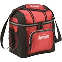 Coleman 9-Can Soft Cooler With Hard Liner (Red)