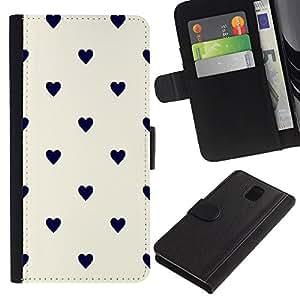 WINCASE Cuadro Funda Voltear Cuero Ranura Tarjetas TPU Carcasas Protectora Cover Case Para Samsung Galaxy Note 3 III - lunar blanco amarillento negro