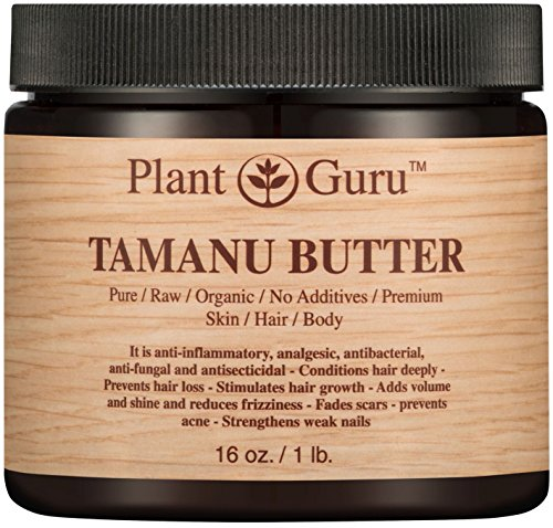 Tamanu Body Butter 16 oz. 100 Pure Raw Fresh Natural Cold Pressed. Skin Body and Hair Moisturizer, DIY Creams, Balms, Lotions, Soaps.