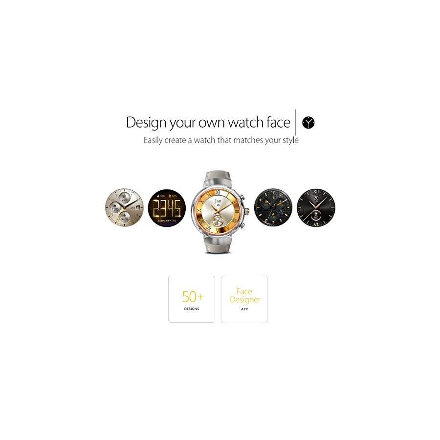 ASUS ZenWatch 3 WI503Q GL DB 1.39 inch AMOLED Smart Watch Dark Brown Leather Strap