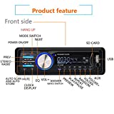 GeMoor Car Stereo Receiver with Bluetooth In-Dash, Single Din Car Radio, MP3 Player/USB/SD/AUX/FM Radio, Wireless Remote Control