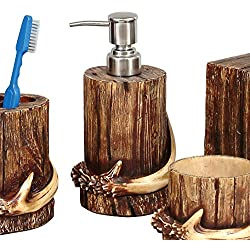 Black Forest Decor Buck Mountain Antler Lodge Lotion Dispenser