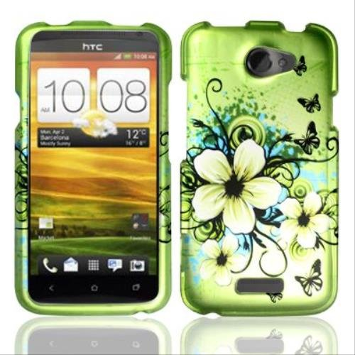 (Rubberized Hawaiian Flowers Design for HTC HTC One X)