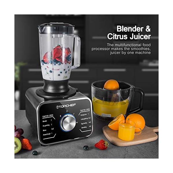 Topchef robot da cucina 1100W Robot da Cucina Compatto (con accessori inclusi: gancio per impastare, frullatore… 5