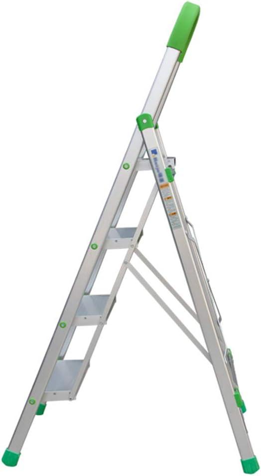 C-J-Xin Escalera telescópica, Escalera de ingeniería al Aire Libre Escalera Interior Plegable Escalera metálica de Cocina Escalera de Cuatro escalones Tamaño 520 * 55 * 1470MM Escalera de casa: Amazon.es: Hogar