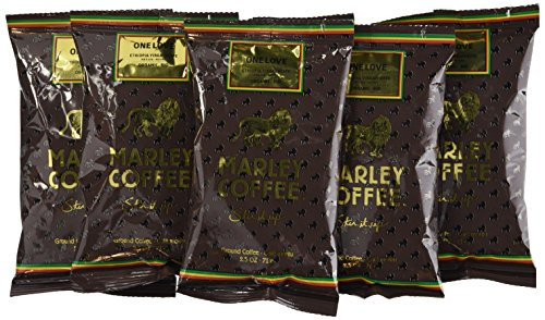 Marley Coffee, Organic One Love, Ground Coffee Portion Packs, 18 Count