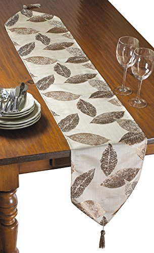 Masterpiece Collection Side Table (Violet Linen Milano Arts Collection Decorative Table Runner, 13