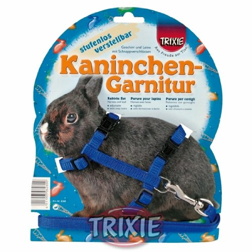 [Trixie Plain Rabbit Walking Harness & Lead Set - Pet, Toys, Accessories, Outdoor] (Rabbit Leads)