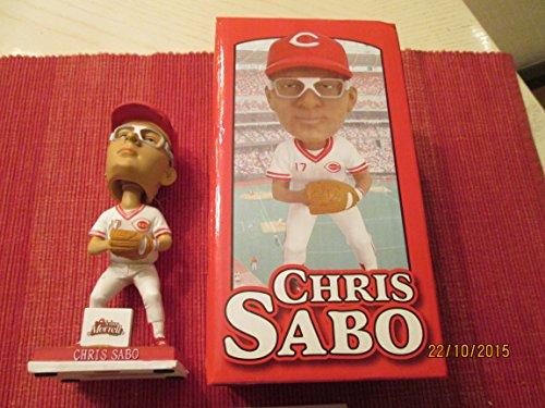 (CHRIS SABO 2010 Cincinnati Reds Baseball Bobblehead in original Box)
