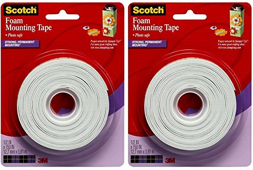 Scotch 4013 1/2-Inch by 150-Inch Mounting Tape, 2-Pack