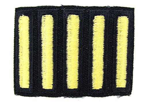 Army OVERSEAS Service Stripes - 5 PACK (Gold on BLUE, Male) Army Blue Uniform