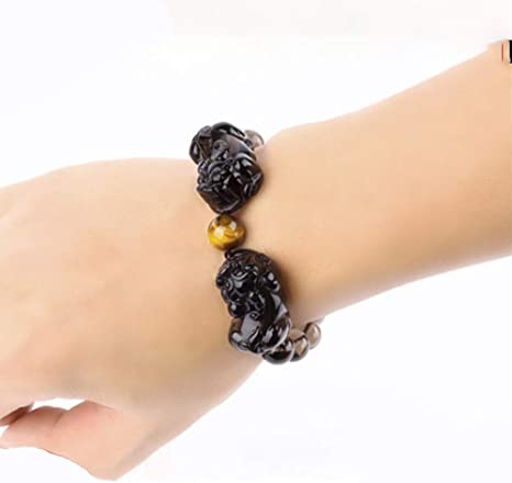 Natural Stones and Golden Plated Horse Bracelet
