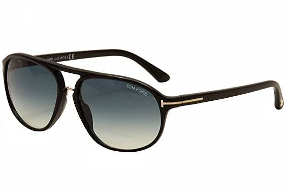 2a4990b6e3f Tom Ford Men FT0447 JACOB 60 Black Blue Sunglasses 60mm at Amazon ...