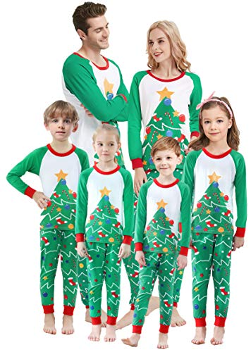 Matching Family Christmas Pajamas Boys Girls Tree Jammies Children PJs Gift Set