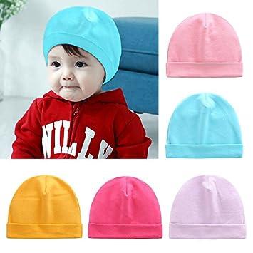 e3dd7b0da12 Amazon.com   Warm Girl Boy Toddler Infant Kids Cute Hat 0-6 Months Newborn  Cotton Pure Color Cap   Baby